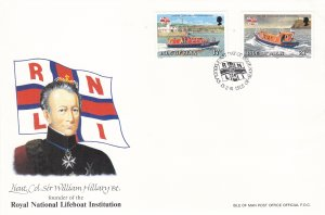 1991, Isle of Man: Royal National Lifeboat Institution, FDC (S18802)