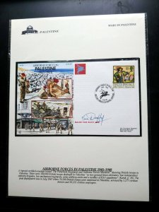 """VERY RARE UK """"AIR BORNE FORCES IN PALESTINE"""" SIGNED EVENT COVER   HARD TO FIND"""