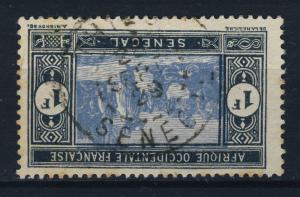SÉNÉGAL 1929 CAD THIÈS / SÉNÉGAL sur 1fr Noir&Gris-Bleu MARCHÉ INDIGÈNE N°85A