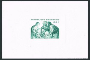 Rwanda 713 proof,MNH.Michel Bl.70v. Christmas 1975.Adoration of the Kings.Rubens