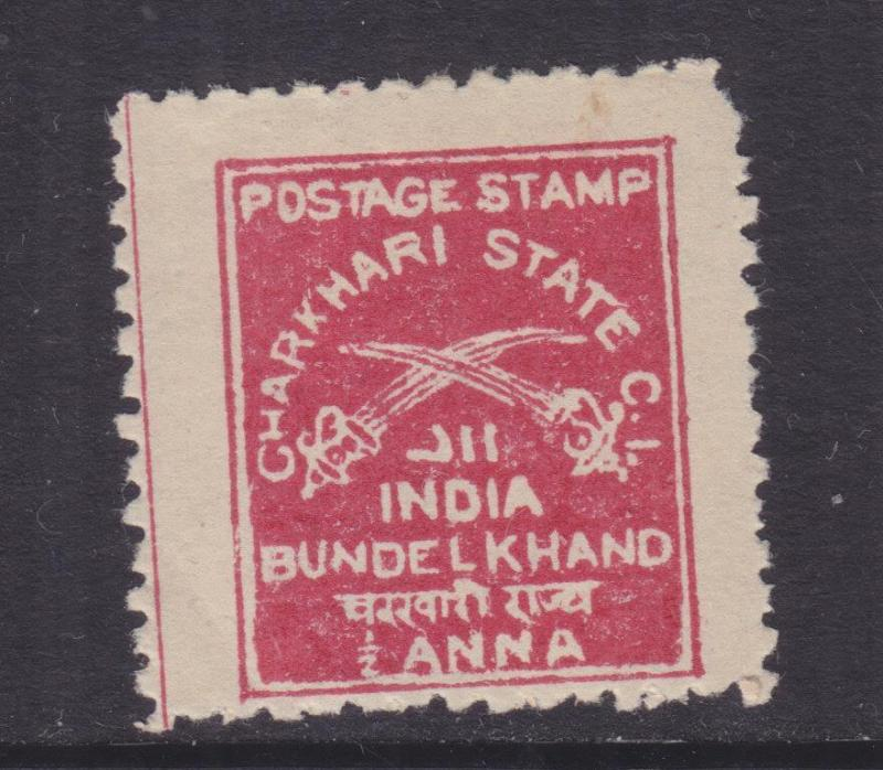 CHARKHARI, INDIA, 1909 1/2a. Deep Rose Red, lhm.