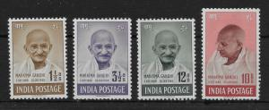 INDIA SG305/8 1948 GANDHI SET MTD MINT