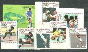 Guinea Bissau 1989 Olympic Games 7v + S/S MNH