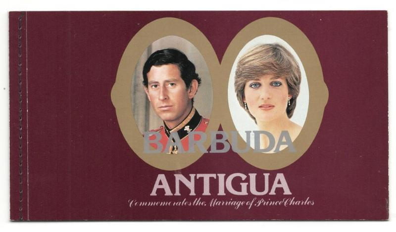 Barbuda #501 Booklet - Marriage of Charles & Diana