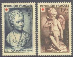 FRANCE B255-56 MINT OG 1950 RED CROSS-PAINTINGS