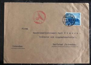 1941 Berlin Germany Censored Cover To Karlstad Sweden