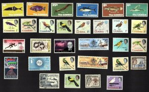 30 All Different  GAMBIA  STAMPS (ALL PERIODS)
