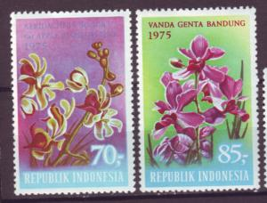 J21074 Jlstamps 1975 indonesia hv,s of set mh #945-6 flowers