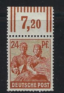 Germany AM Post Scott # 565, mint nh, var. rotary print