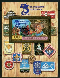 1983 Chad 1021/B195a gold Scouts - overprint # B106 12,00 €