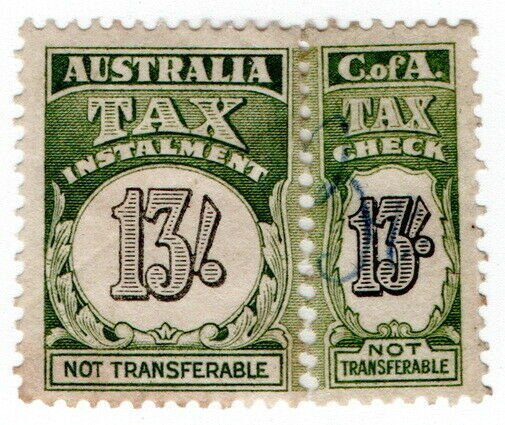 (I.B) Australia Revenue : Tax Instalment 13/-