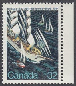 Canada - #1012 Tall Ships - MNH