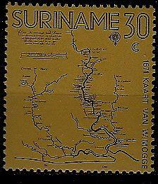 Suriname 391 MNH Map SCV0.80