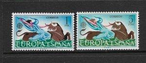 SPAIN - EUROPA 1966 - SCOTT 1374 TO 1375- MNH