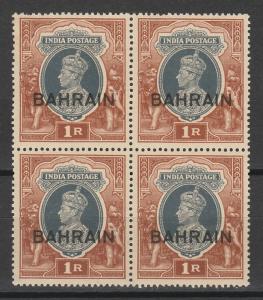 BAHRAIN 1938 KGVI 1R BLOCK */**