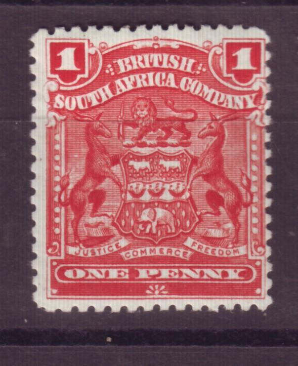 J17063 JLstamps 1898-1908 rhodesia mhr #60 coat of arms