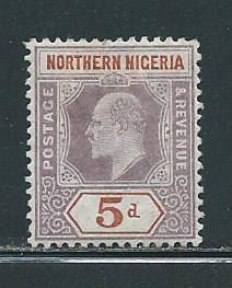 Northern Nigeria 23 5d KEVII single MH