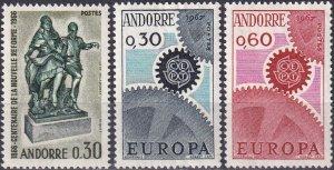 Andorra (Fr) #173-5  MNH CV $12.00 (Z9629)