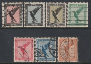 Sc# C27 / C34 Germany 1926 - 1927 Eagle complete airmail set Used CV $129.85