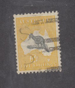 AUSTRALIA XX22 # 54 VF-5sh ROO WITH LIGHT USED CAT VALUE $125