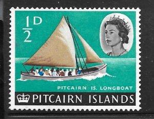 Pitcairn Islands 39: 1/2d Pitcairn Island Longboat, used, F-VF