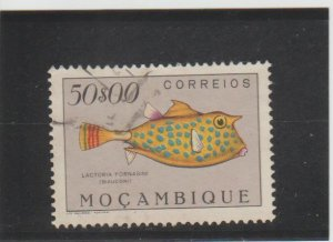Mozambique  Scott#  355  Used  (1951 Spotted Cowfish)