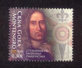 Montenegro Sc# 306 MNH 275th Anniversary Matija Zmajevic