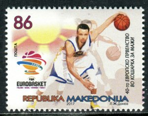 250 - MACEDONIA 2017 - THE 40TH EUROPEAN MEN'S BASKETBALL - MNH Set