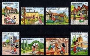 GRENADA GR - 1990 - DISNEY - MICKEY - MINNIE - DAISY + SHAKESPEARE - MINT SET!
