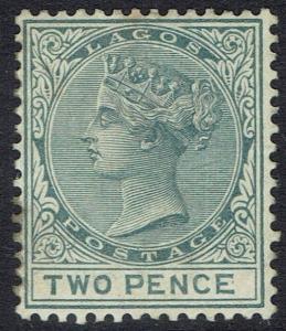 LAGOS 1884 QV 2D WMK CROWN CA