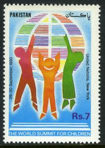 Pakistan 741, MNH. World Summit for Children, 1990