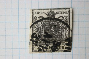 Austria early sc#2 used sound 2k black grey dated cancel 1850