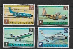 ASCENSION ISLAND - 1975 WIDEAWAKE AIRFIELD - SCOTT 185 TO 188 - MNH