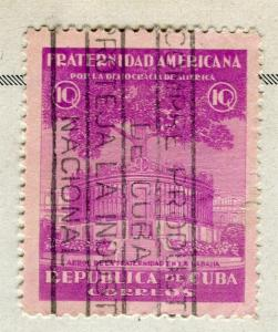 SPANISH CARIBBEAN;  1942 early Democracy issue fine used 10c. value