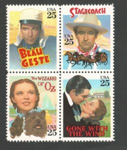 2445-48  Classic Films Block Of 4 Mint/nh FREE SHIPPING