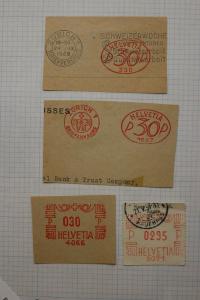 Switzerland Helvetia Swiss Zurich 1936 metered postage slogan cancel lot