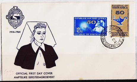 South Africa. 1964 FDC. Nursing. Fine Used