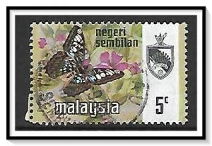 Negri Sembilan #87 State Crest & Butterflies Used