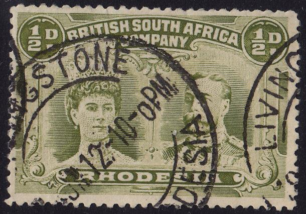 Rhodesia - 1910 - Scott #101a - used - Queen Mary and King George V