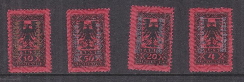ALBANIA, Postage Due, 1922 Republika Shiqiptare set of 4, lhm.