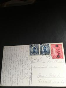 Croatia (Yugoslavia Postage Paid With #6 2 and Faulty #15) 1924 Post CardTo BRNO