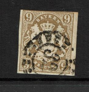 Bavaria SC#20, Used, (Noted Mi# 17), w/ 32 in cancel - S3846