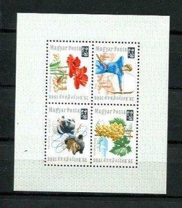 Hungary 1966 Souvenir Sheet Mi Block 55a Perf MNH Flowers 10440