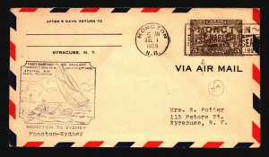 Canada 1929 FFC - Moncton to Sydney - Z16695