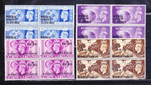 Great Britain Offices In Morocco 95-98 Blocks Of 4 Set MNH Surcharges (B)
