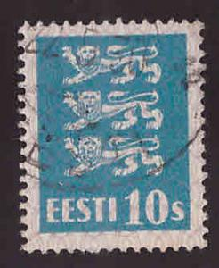Estonia Scott 95 used from 1928-1940 Arms set
