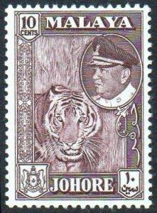 Johore 1960 10c Tiger MH
