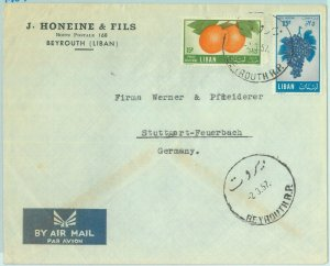 86448 - LEBANON Liban - Postal History - AIRMAIL  Cover to  GERMANY  1957