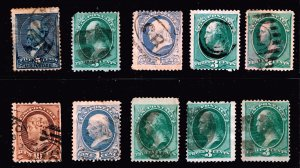 US STAMP 19TH OLD USED STAMPS  COLLECTION LOT #F2