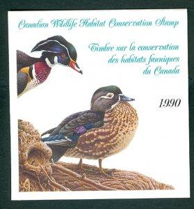 CANADA 1990 GEESE WILDLIFE CONSERV  #FWH6(VAN DAM) SHEET & FOLDER...$25.00
